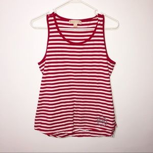 Micheal Micheal kors red and white striped top Lrg